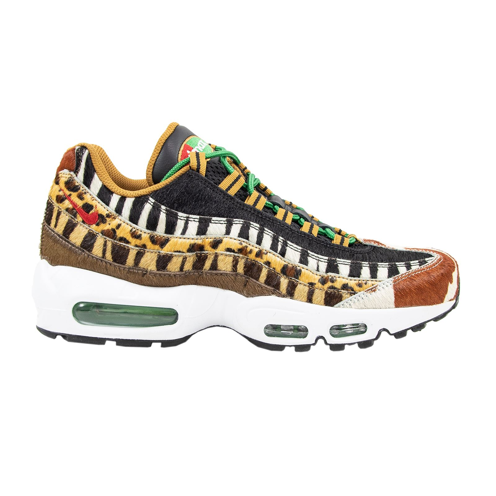 outlet store b89a9 3c60e NIB Nike x Atmos Air Max 95 DLX Ponyhair Animal Pack 2.0 Swoosh Sneakers 8US