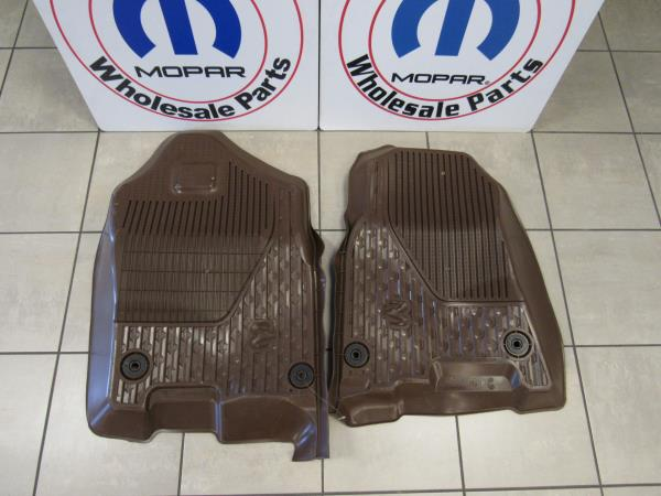 2019 Dodge Ram All Weather Slush Mats Brown Crew Cab Rubber Mats New Oem Mopar Ebay