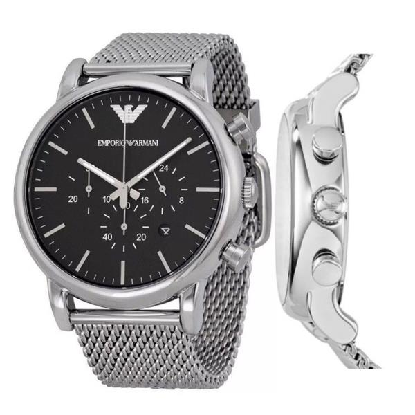 14265129 Details about 100% New Emporio Armani AR1808 46mm Classic Chronograph Black  Dial Men's Watch