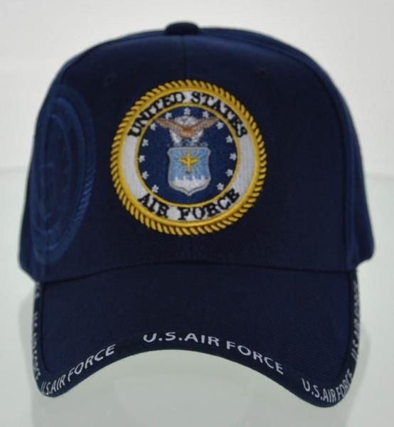 1359dc2547d NEW! USAF AIR FORCE ROUND SHADOW CAP HAT NAVY
