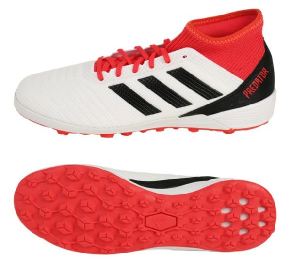 8ace1d2f7 Details about Adidas Men Predator Tango 18.3 TF Cleats Futsal White Red  Shoes Spike CP9930