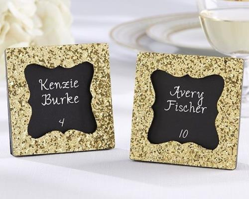 12 Gold Glitter Photo Picture Frame Place Card Holders Wedding