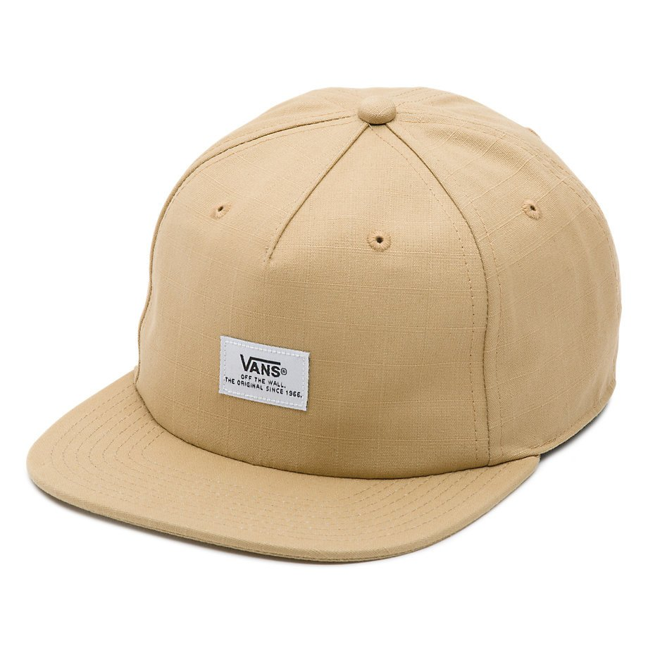 Vans Cap Helms Khaki Unstructured Snapback Skateboard Hat FREE POST