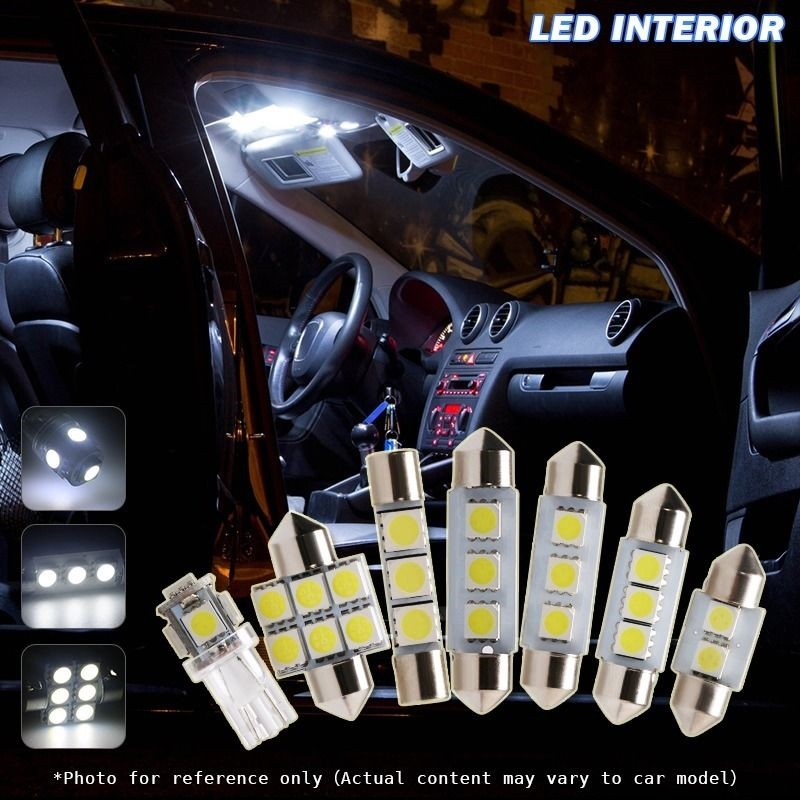 7pcs Xenon White Car Led Interior Light Package For 2007 2008