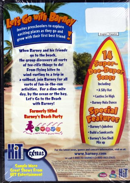 barney let 39 s go to the beach new dvd educational fun songs baby bop bj riff ebay. Black Bedroom Furniture Sets. Home Design Ideas