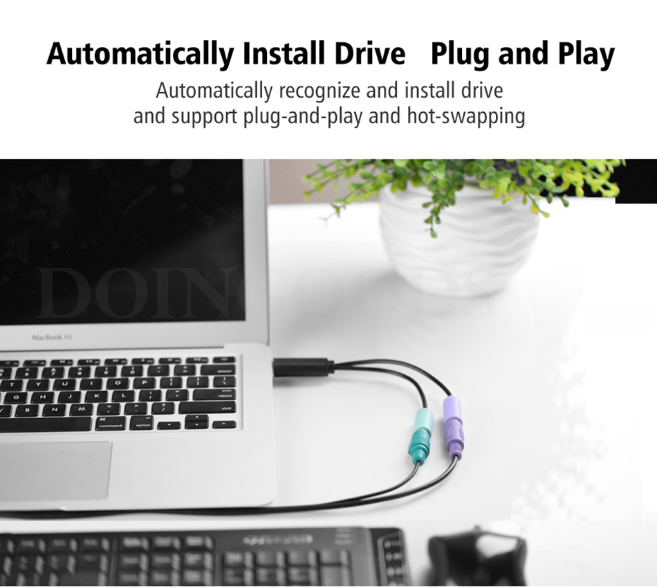 Ugreen Usb 2.0 A Male To PS2 Female Adapter PC Keyboard And Mouse ...
