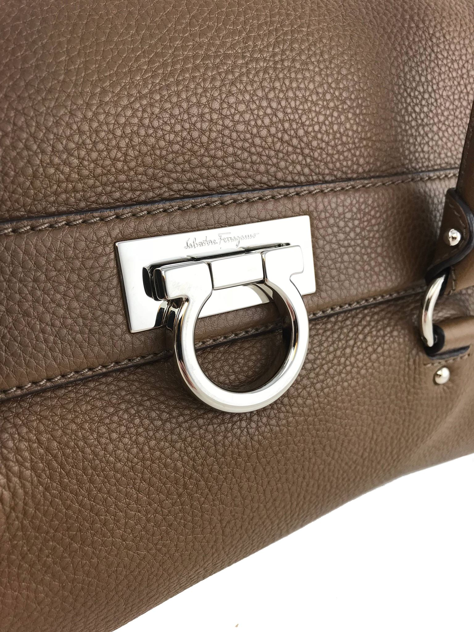 92cb411dd4b9 Salvatore Ferragamo Soft Gancini Flap Satchel Bag. Liquid error  Index was  out of range. Must be non-negative and less than the size of the collection.