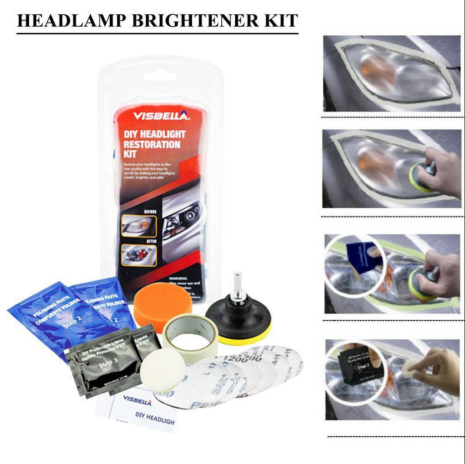 Car Headlight Headlamp Cleaning Polish Tools Headlight Restoration