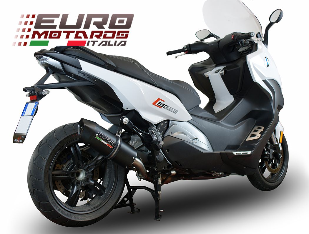 bmw c650 sport 2016 2017 gpr exhaust slip on silencer furore nero road legal ebay. Black Bedroom Furniture Sets. Home Design Ideas