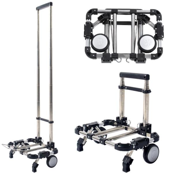 Folding Luggage Cart Rolling Shopping Carts Portable Hand Truck ...