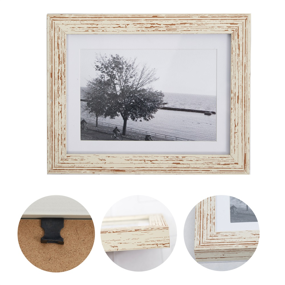 15pc Multi Photo Picture Frames Wall Hang Collage Value Set White ...
