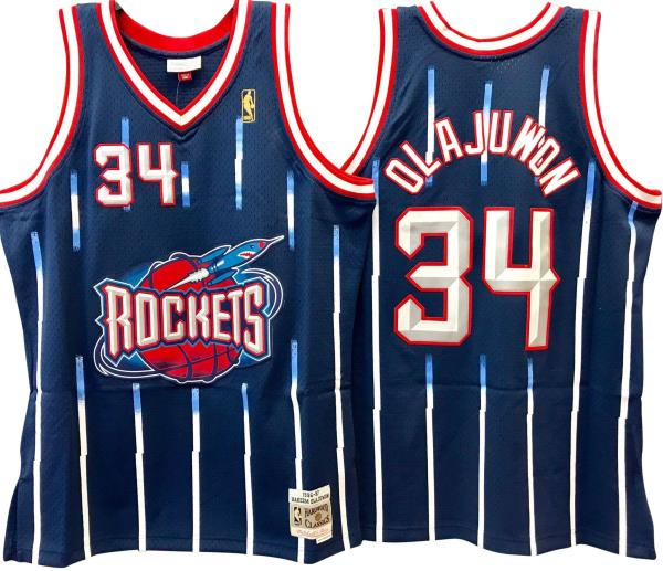 size 40 8a3df 2c541 Details about Hakeem Olajuwon Houston Rockets Hardwood Classics Throwback  NBA Swingman Jersey