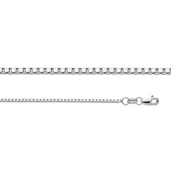 d0c00cff48d73 Details about 14k White Gold Box Chain Square Links Cube Necklace Solid  Italian 1.2mm Lobster