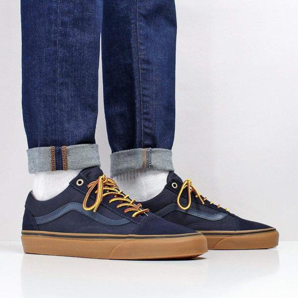 41d57225a52 We have teamed the Vans Old Skool Shoes with a pair of Edwin ED-85 Slim  Tapered Power Blue 11.5oz Denim Jeans