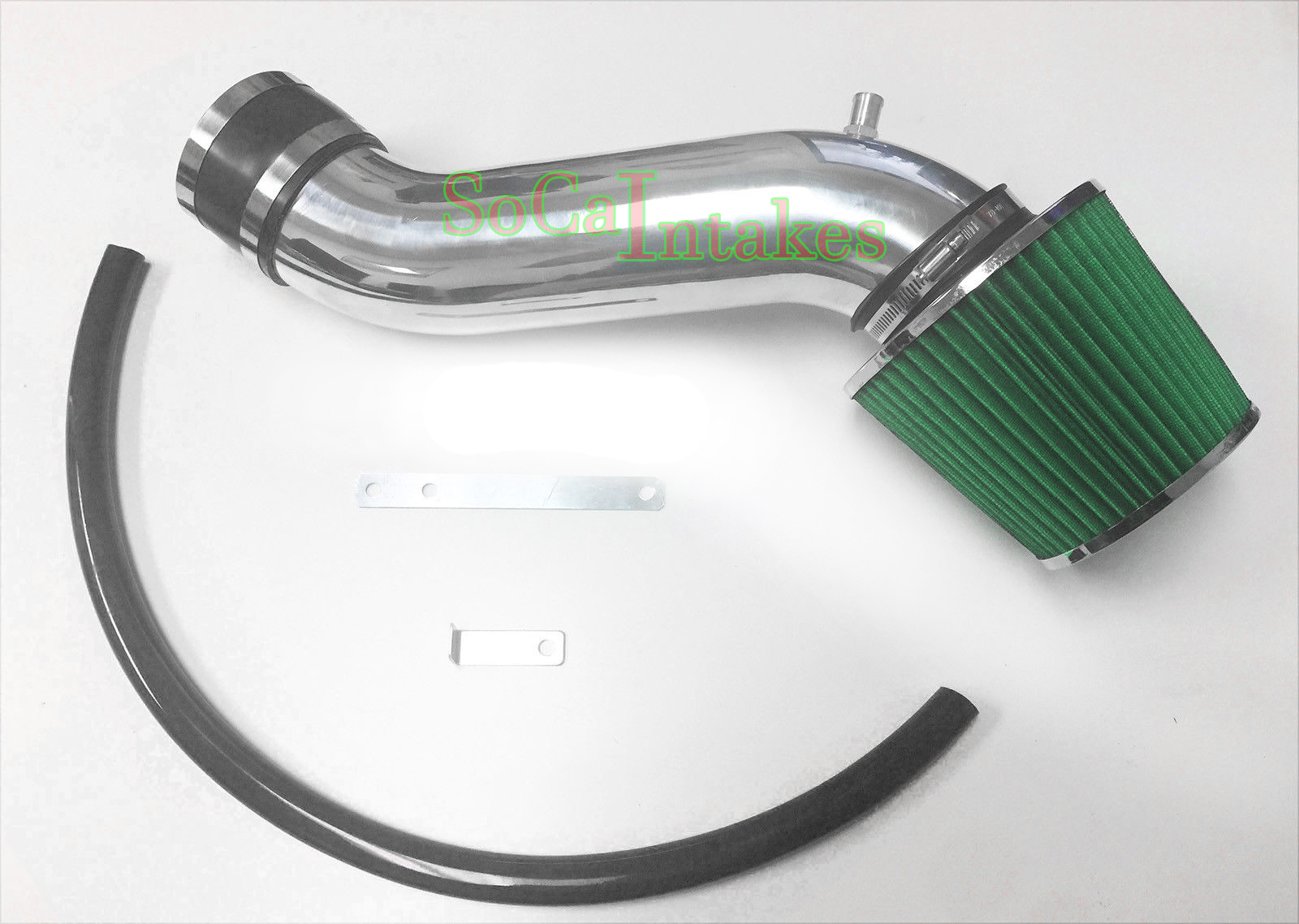 Black Green Air Intake Kit /& Filter For 2014-2015 Jeep Cherokee 3.2L V6