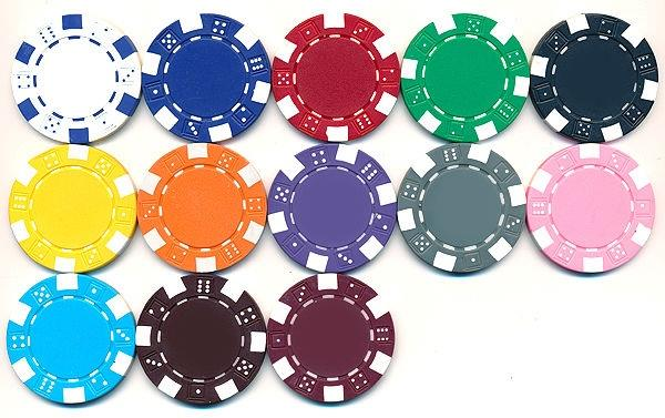Pick Colors! New Bulk Lot of 200 Striped Dice 11.5g Clay Poker Chips