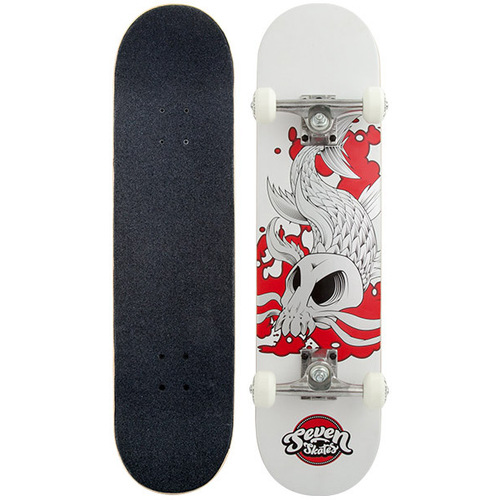 Seven Complete Skateboard Skull Carp MINI 7.25 FREE POST New By Z-Flex Zflex