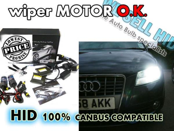 AUDI A3 HID XENON CONVERSION SLIM KIT H7 35W CANBUS ERROR FREE WIPER MOTOR SAFE