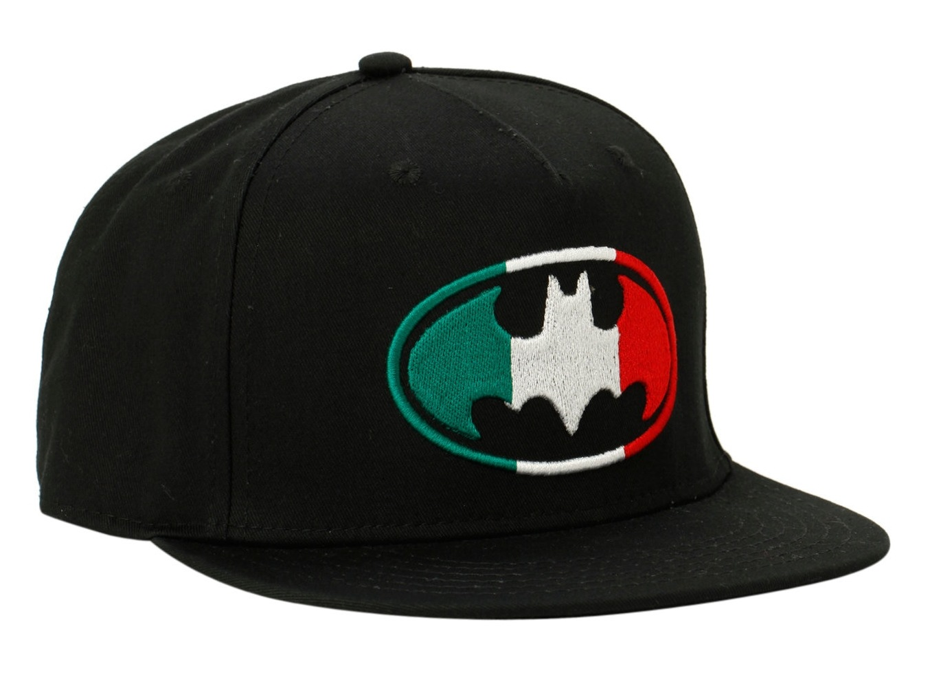 55cb77c2d Details about New DC Comics Batman Logo Mexico Flag Snapback Hat Embroidered