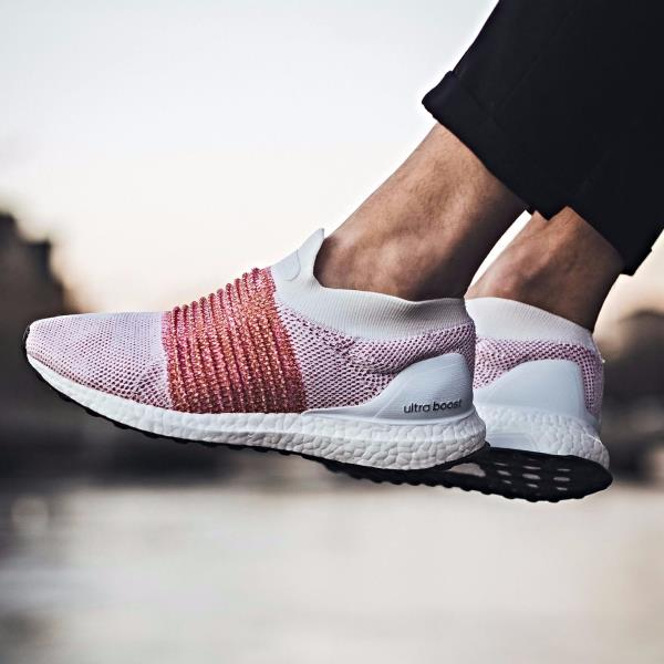 Adidas Ultra Boost Laceless White Red Pk Primeknit Size 7 12 Nmd