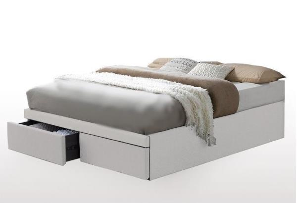 Hollies Queen Bed Base With 2 Storage, Queen Bed Base With Drawers