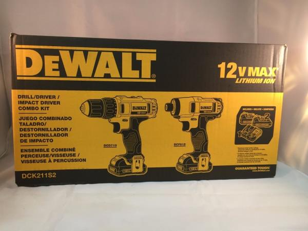 Dewalt 20-volt max lithium-ion cordless combo kit (2-tool) with (2.