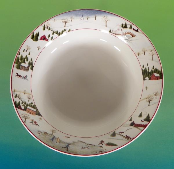 If using the shopping cart shipping will combine for all items purchased from us within the same order. Click *HERE* to See our Sakura Listings! & Sakura Oneida David Carter Brown CHRISTMAS VALLEY Soup Cereal Bowl ...
