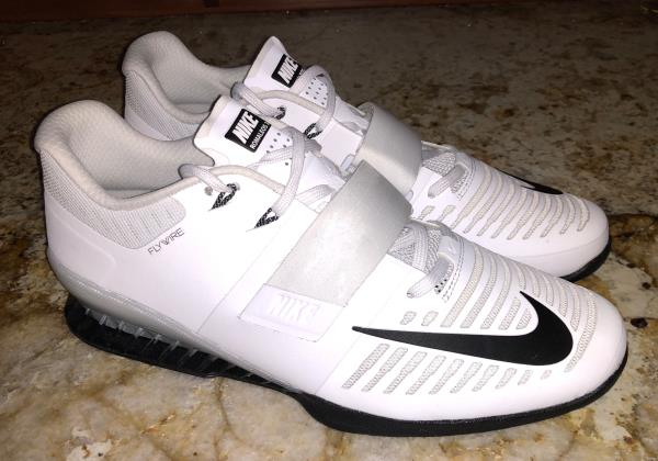 Details about NIKE Romaleos 3 Weightlifting White Black Lifting Training  Shoes NEW Mens 14 15 0757ff860
