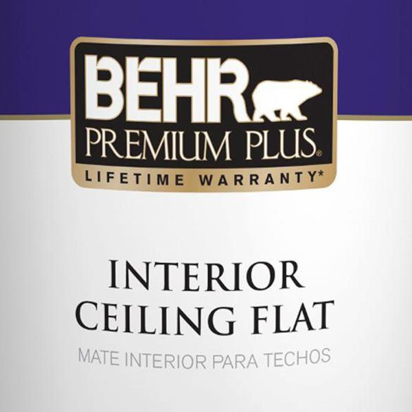 WHITE FLAT CEILING INTERIOR PAINT 1 Gal Textured Popcorn Ceilings