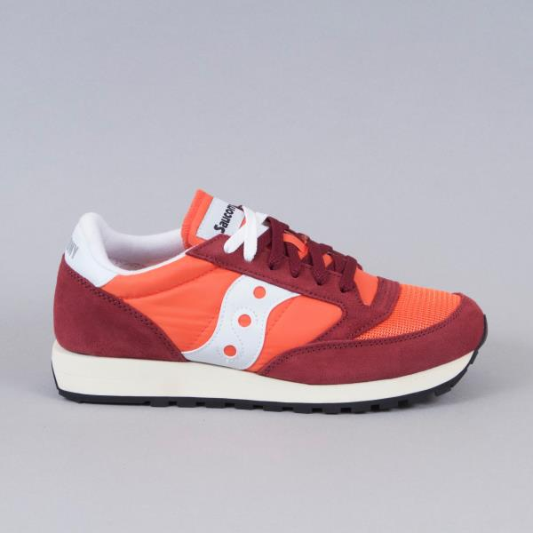 new arrival 2691c a3726 SAUCONY Mens Jazz Original Vintage Trainers in FLAME   MAROON