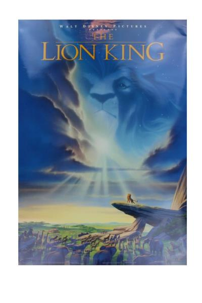 The Lion King 1994 Original Movie Poster Vintage 40x27 Rolled Double Sided Ebay