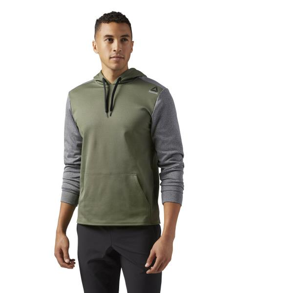 7a7ee47daa Details about [BR0310] New Men's REEBOK US FLC HD S Pullover Training  Hoodie - Green Grey