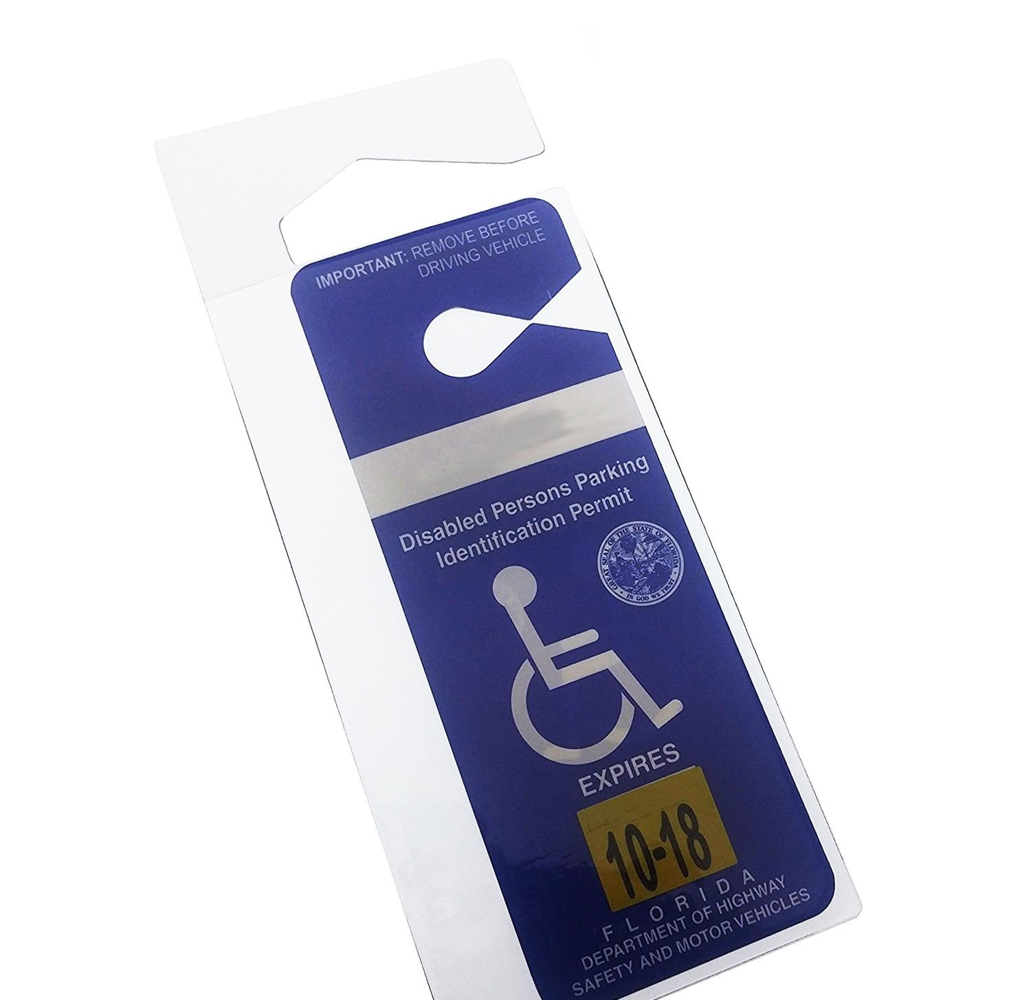 Handicap Parking Placard Holder - Rear View Mirror Disability ID ...