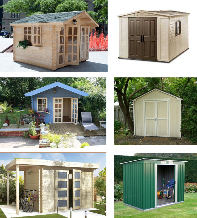 10x10 All Natural Wood Garden Shed Kit - play, pool house, cabana ...