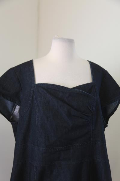 257644245d137 Lane Bryant Denim Blue Jean Dress Size 22 Cap Sleeve Career Office ...