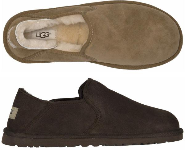 815a9877833 Details about Ugg Men's Kenton 3010 Sheepskin Black & Chocolate Brown  slipper Shoes