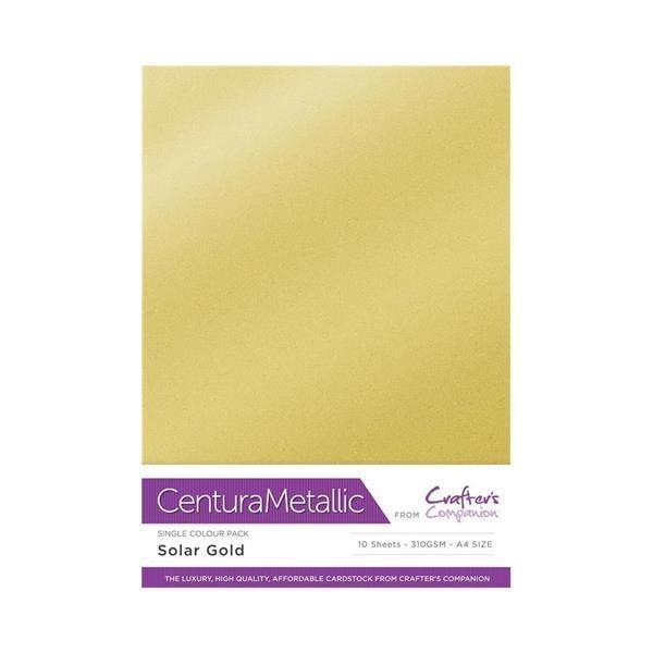 photograph relating to Printable Playing Card Sheets referred to as Info relating to Centura Metal A4 Printable 310gsm Printable Card Pack - Sunshine Gold 10 sheets