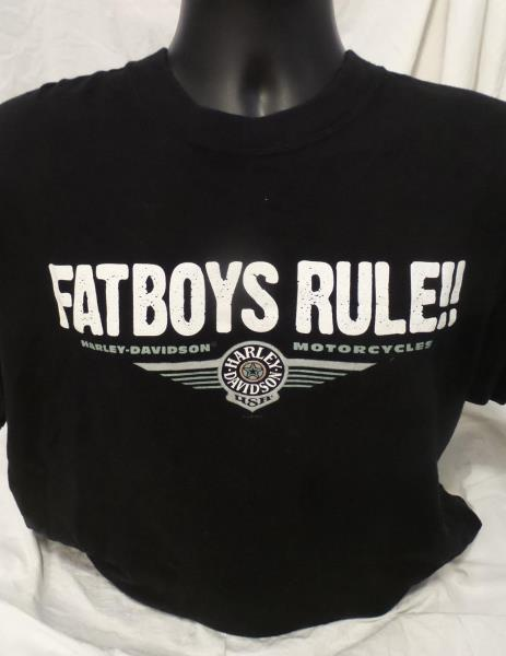 Genuine Harley Davidson Men S T Shirt Size L Fat Boys Rule Melbourne