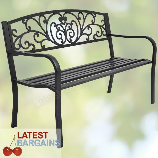 Fine Details About Metal Garden Bench Outdoor Patio Park Chair Seat Furniture Steel Iron Decor Pabps2019 Chair Design Images Pabps2019Com