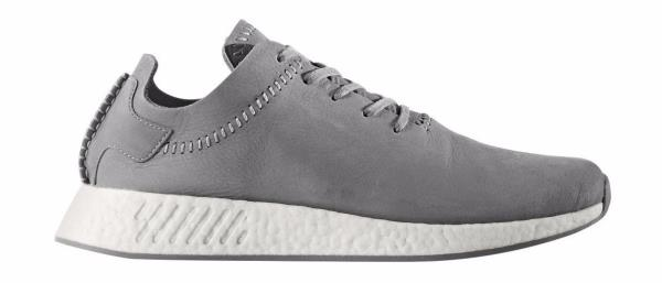 a20b482a18a62  BB3117  Mens Adidas Wings   Horns WH NMD R2 - Ash Off White Leather Sneaker