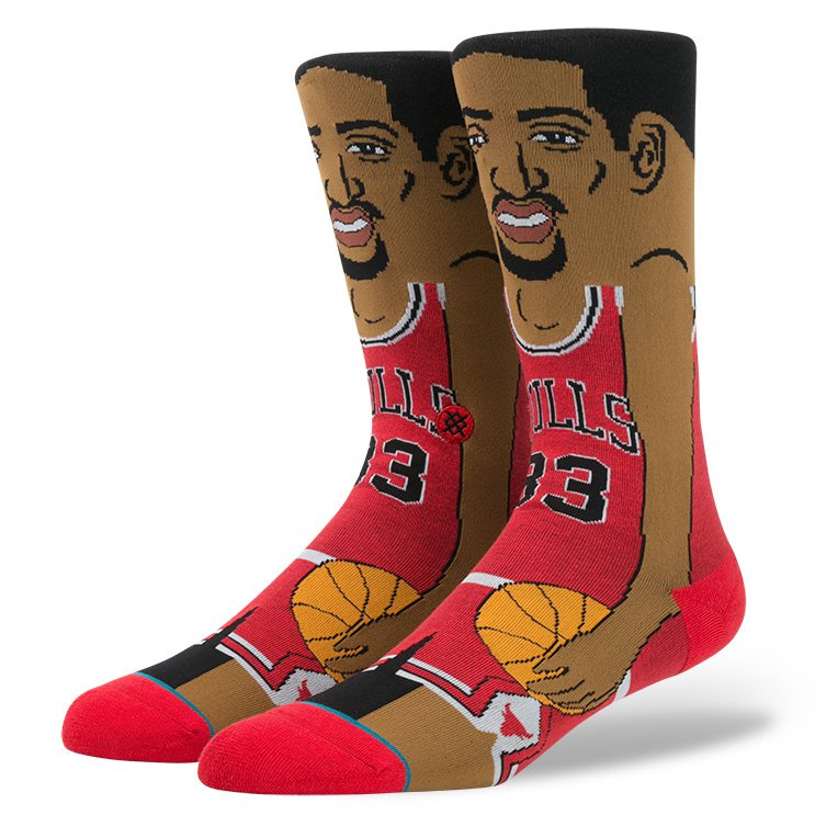 Stance Socks Scottie Pippen Cartoon NBA SIZE L-XL FREE POST New Basketball Sox