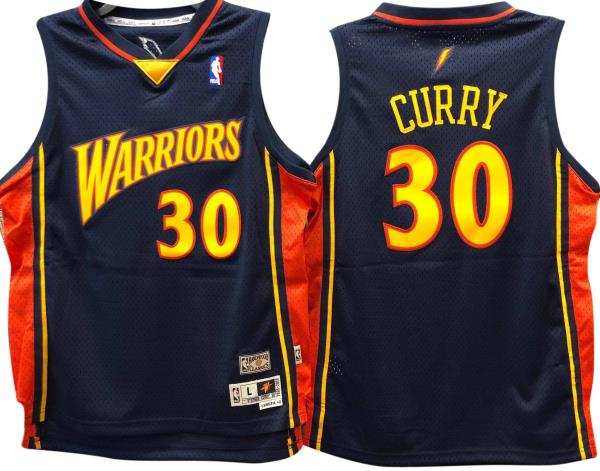 big sale 637e4 646b0 Details about Stephen Curry Golden State Warriors Hardwood Classics  Throwback Youth NBA Swingm