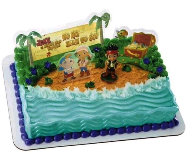 Excellent Jake And The Never Land Pirates Cake Topper Ebay Personalised Birthday Cards Fashionlily Jamesorg