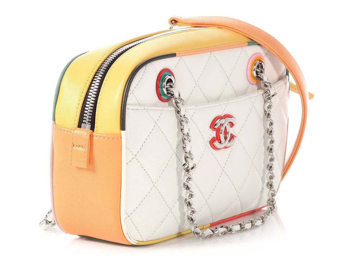 e59b25a4a White Chanel Lambskin Quilted Backpack- Fenix Toulouse Handball