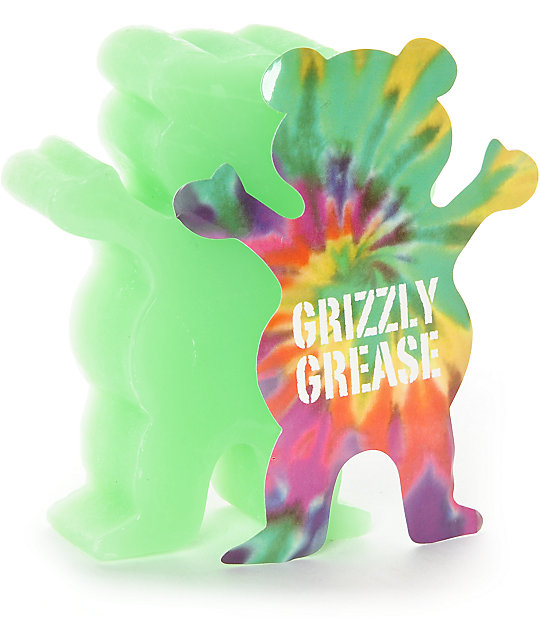 Grizzly Grease Wax Green Grizzly Grip Skateboard Curb Wax FREE POST