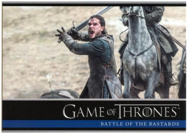 Battle Of The Bastards #26 Game Of Thrones Season 6 Rittenhouse 2017 Card C2279