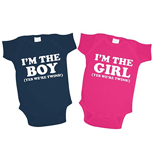 Im The Boy Im The Girl Yes Were Twins Matching Baby Boy and Girl Twin Sets