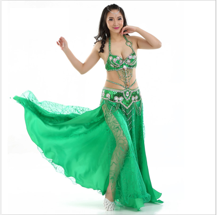 Professional Belly Dance Costumes Performance Stage Outfits Dress for dance #802