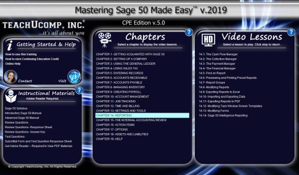 Details about SAGE 50 ACCOUNTING 2019 DELUXE Training Tutorial Course &  Quick Reference Guide